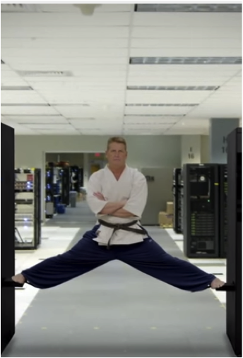 Brian Gallagher takes Dojo training seriously, even in the data center!