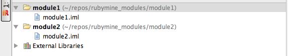 Modules in Rubymine!