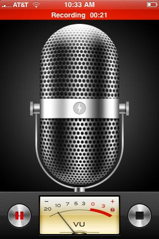 Voice capture app is eye candy, but not functional.