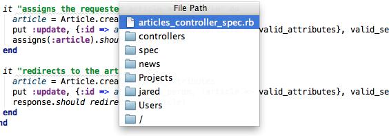 file path dialog