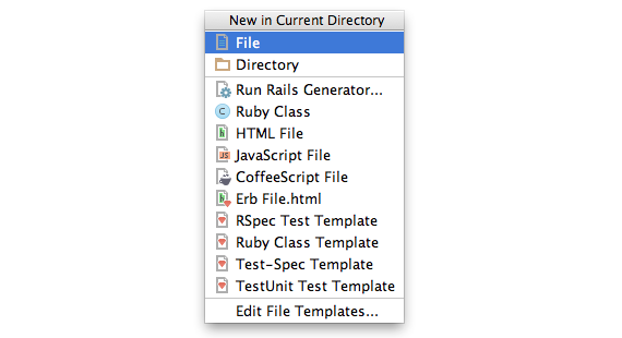new in current directory dialog