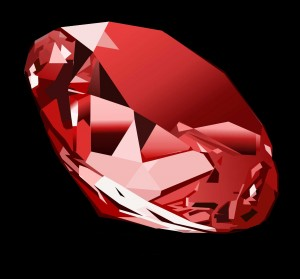 Illustration of a cut ruby.