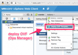 "menubar showing ""Deploy OVF Template..."""