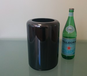 Mac Pro and Bottle of Pellegrino