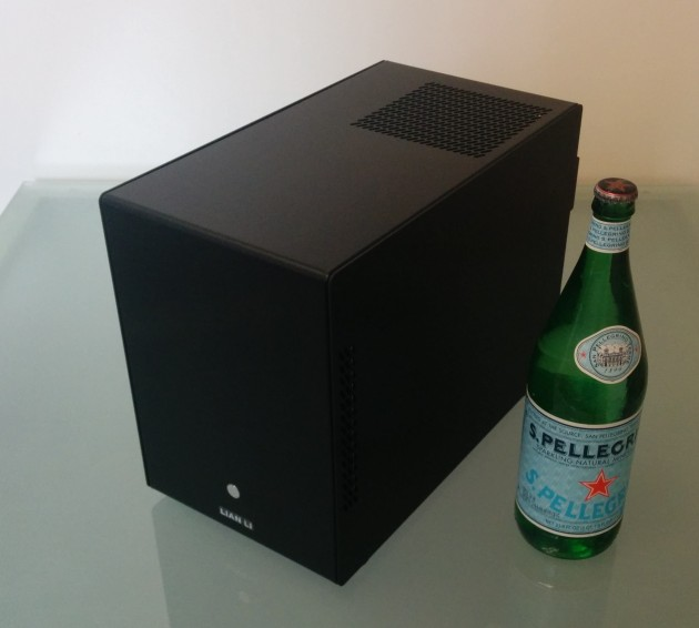 Our NAS server: 28TB raw data. 1 liter Pellegrino bottle is for scale