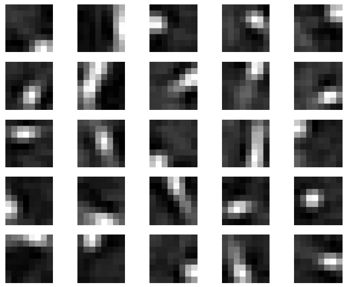 Figure 6: Deep learning features (hidden nodes from first auto-encoder) from natural image patches (8x8)