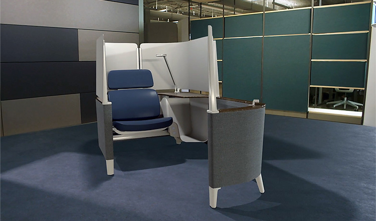 Advanced office desk and chair.