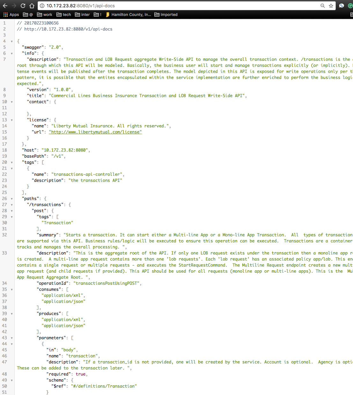 Spring API Docs
