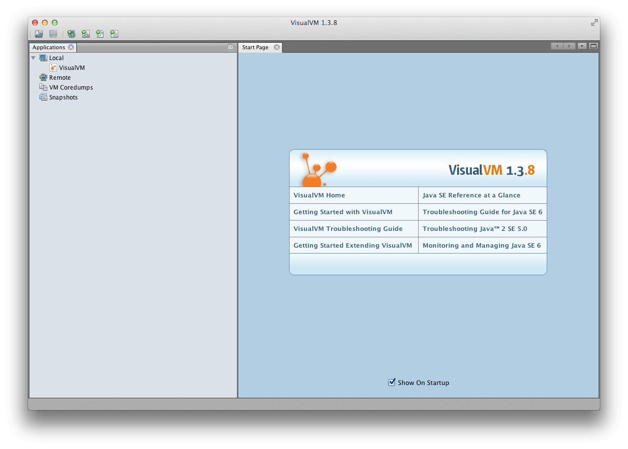 Visual VM Window
