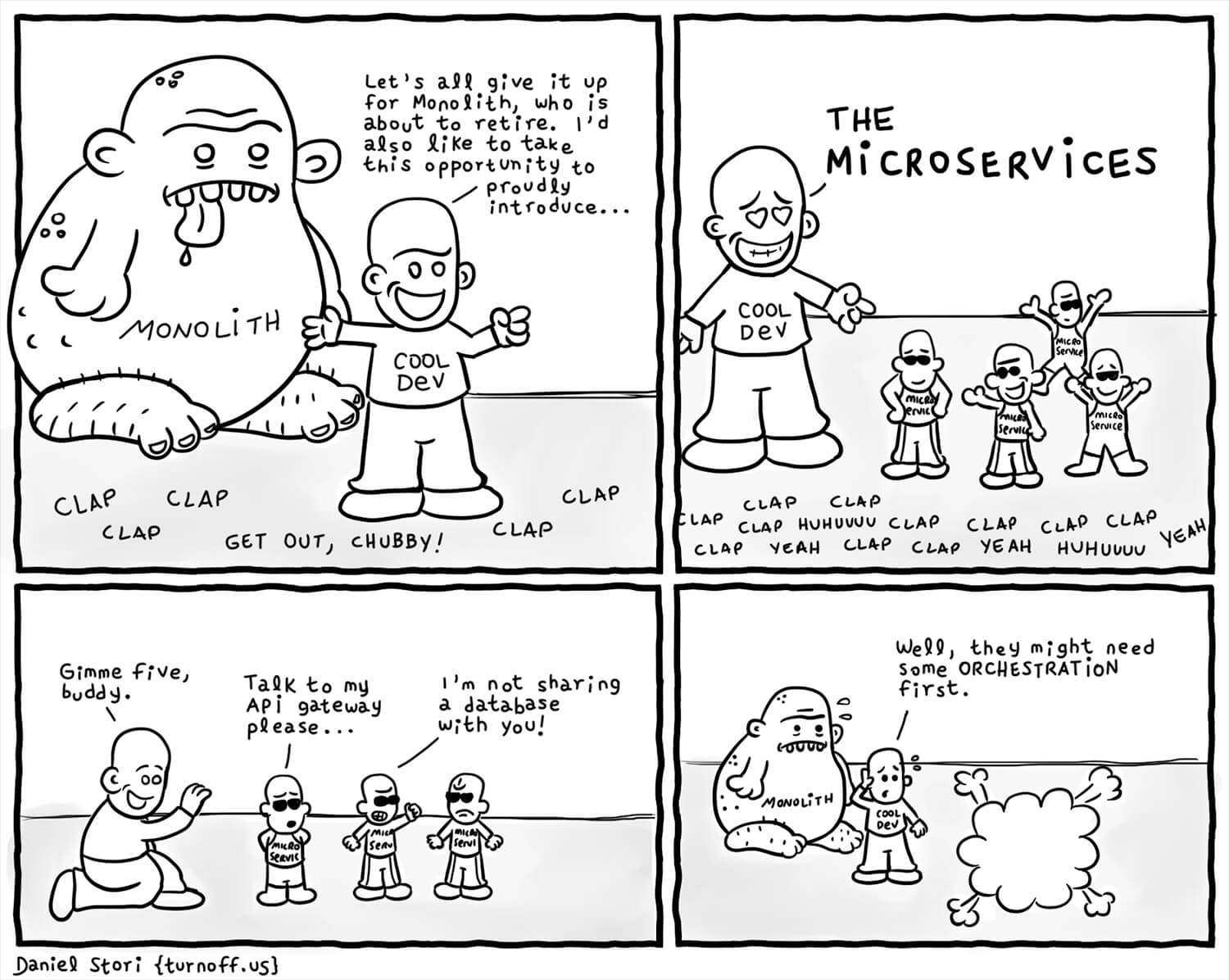 Microservices Cartoon