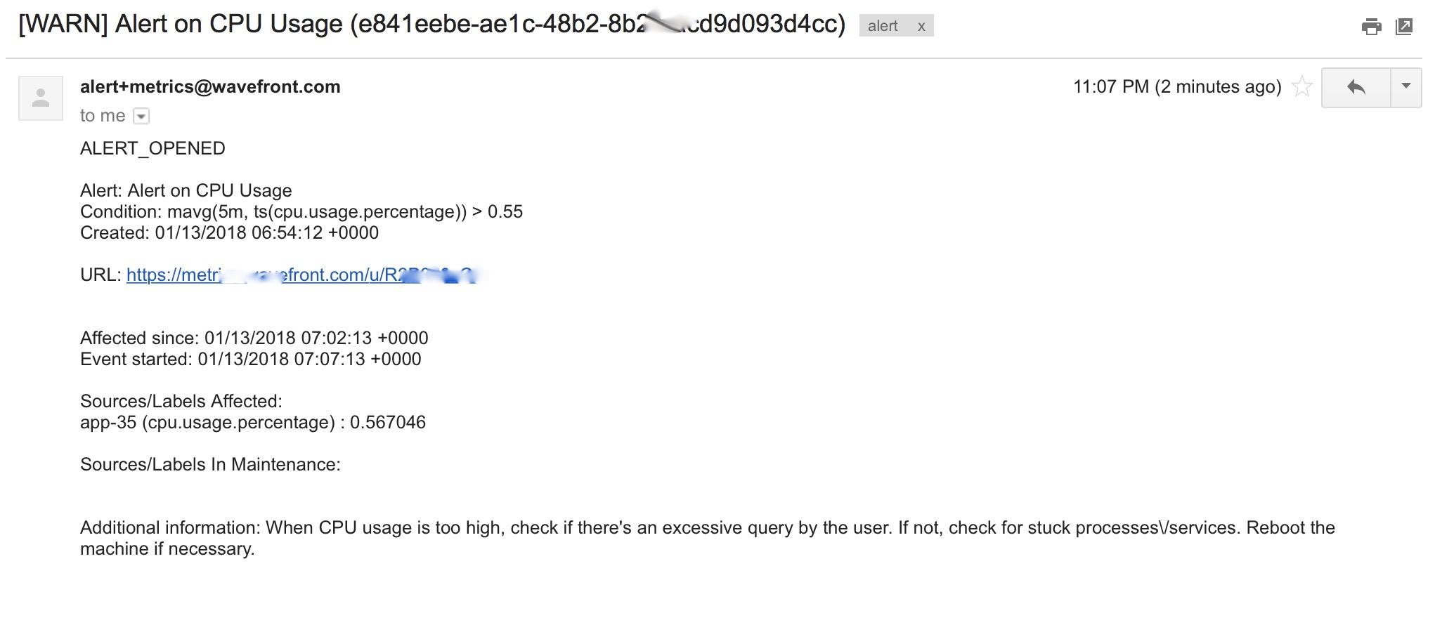 alert notification email